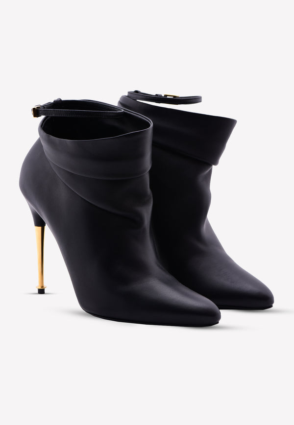 Leather Stiletto Ankle Boots - 110 mm