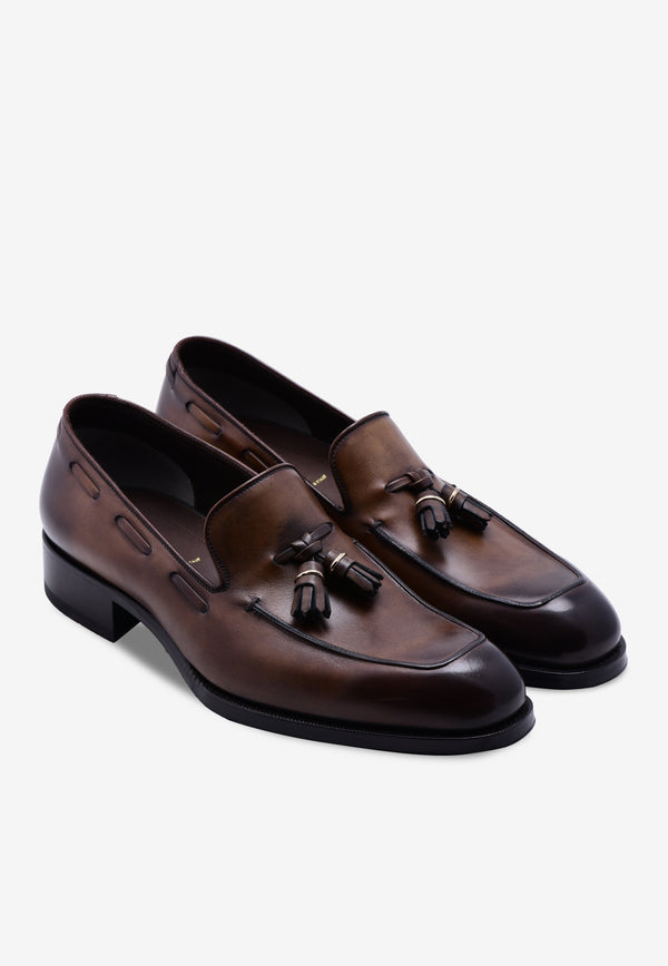 Edgar Leather Tassel Loafers