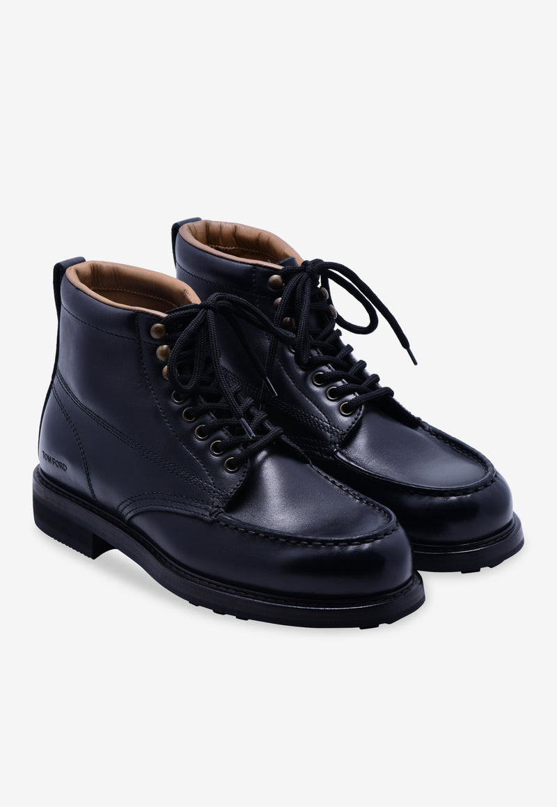 Cromwell Leather Lace-Up Boots