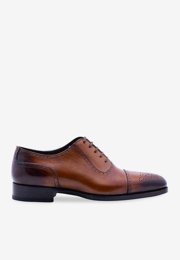 Edgar Burnished Leather Brogues