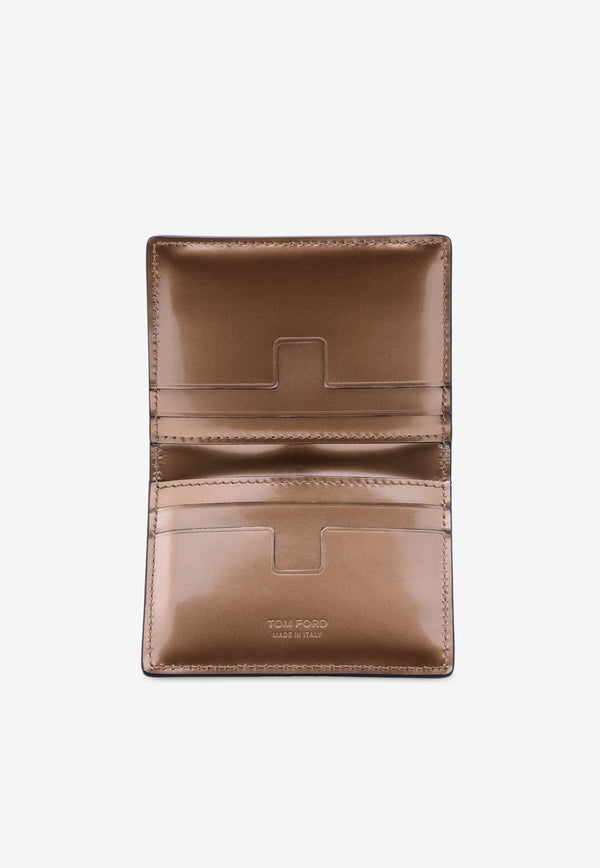 Mirrored Leather Bi-Fold Cardholder