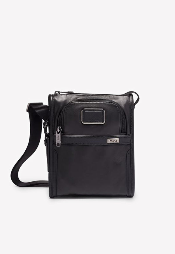 Tumi Alpha Leather Pocket Small Crossover Bag
