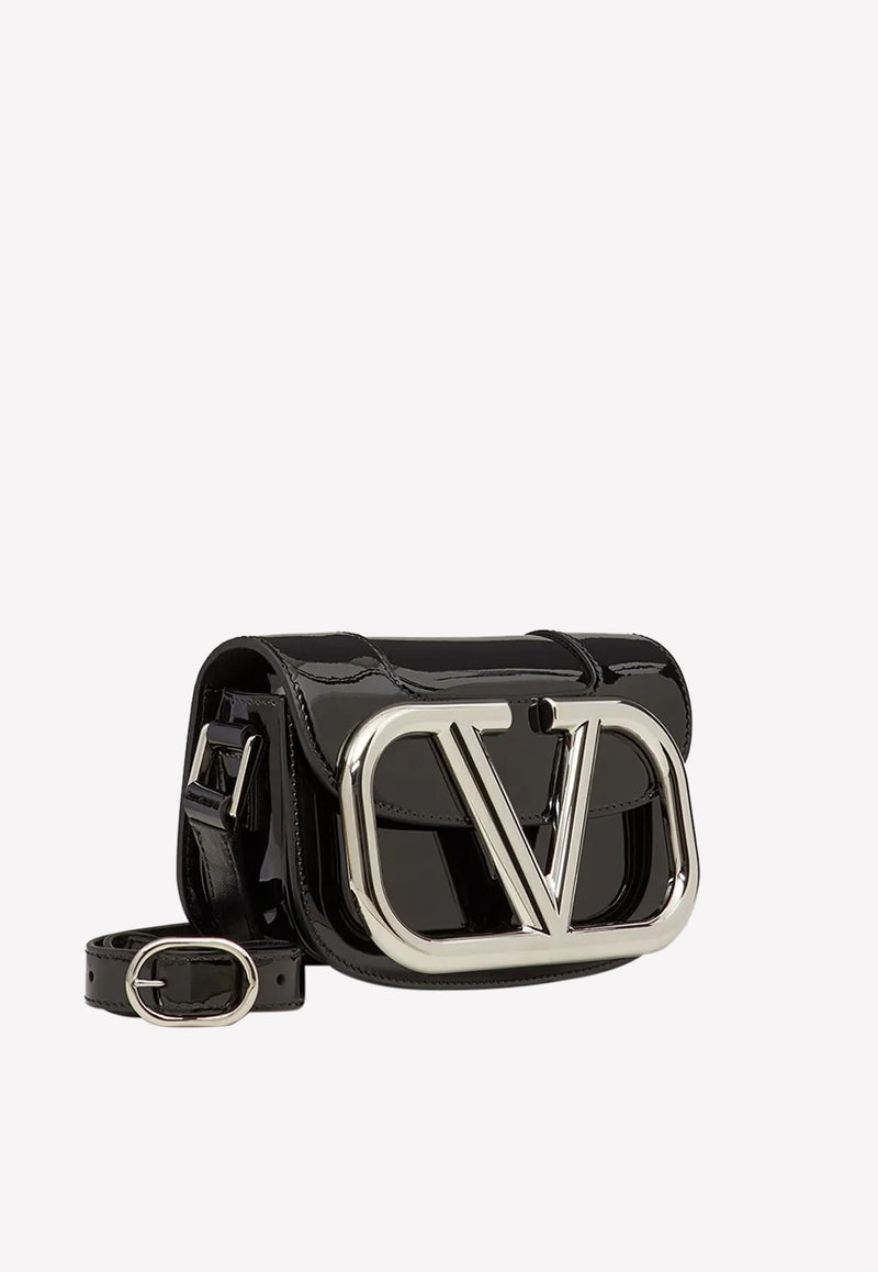 Small Supervee Crossbody Bag in Patent Leather