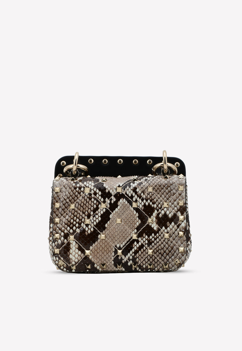 Micro ROCKSTUD SPIKE Bag in Python Leather