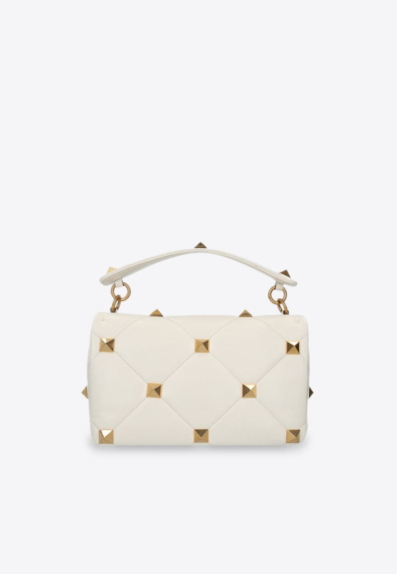 Large Roman Stud Shoulder Bag in Nappa Leather