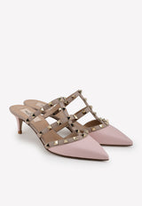 Rockstud Nappa Leather Mules 50 mm