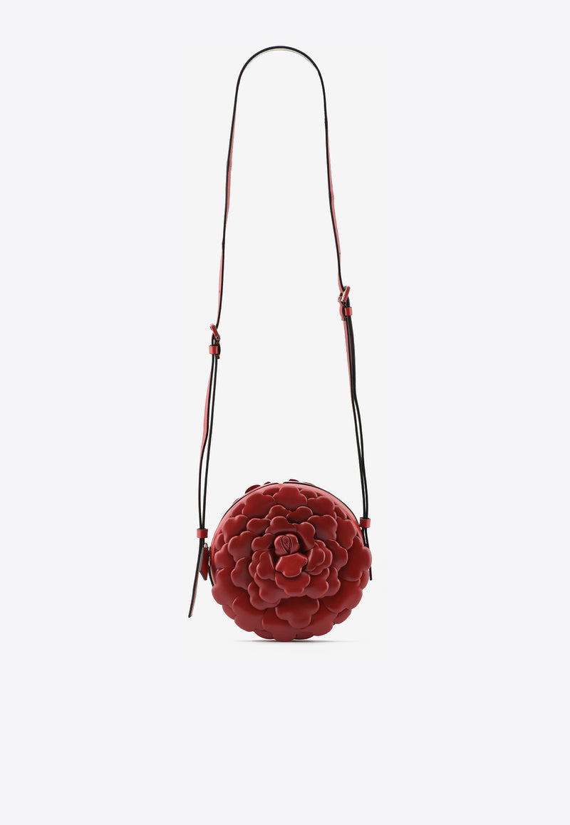 03 Rose Edition Round Crossbody Bag in Nappa Leather