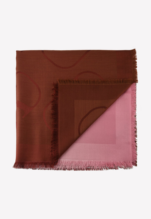 VLOGO Degrade Silk Scarf with Fringe Detail