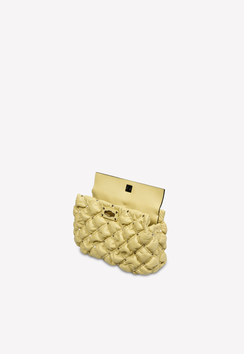 SpikeMe Clutch in Embossed Nappa