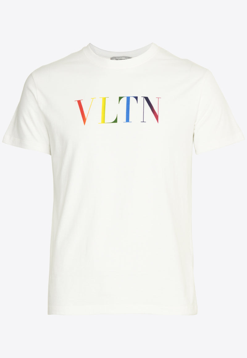 Rainbow VLTN Print Cotton T-shirt