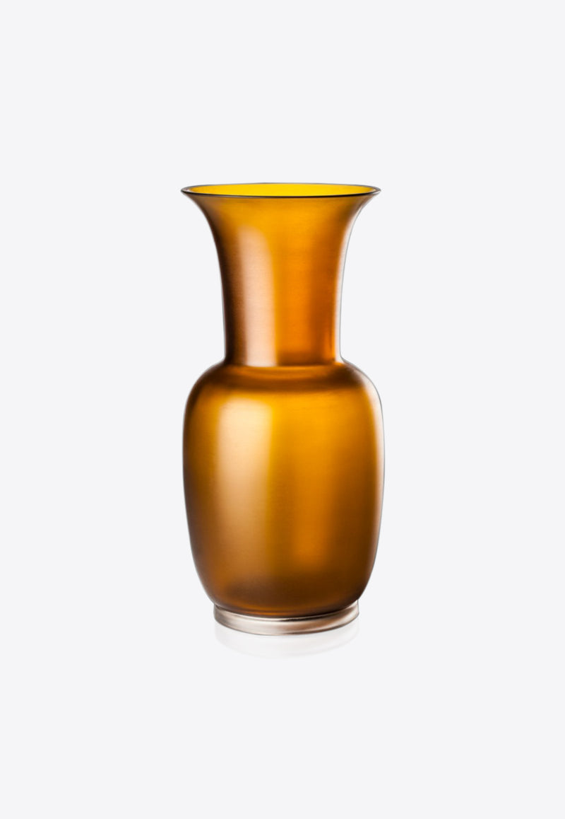 Satin Vase in Sheer Glass