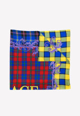 Silk Scarf with Check Print