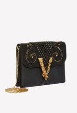 Small Virtus Western Stud-Embellished Clutch in Calf Leather