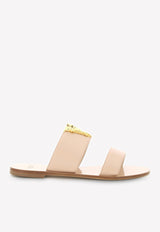 Virtus Flat Slides in Calfskin