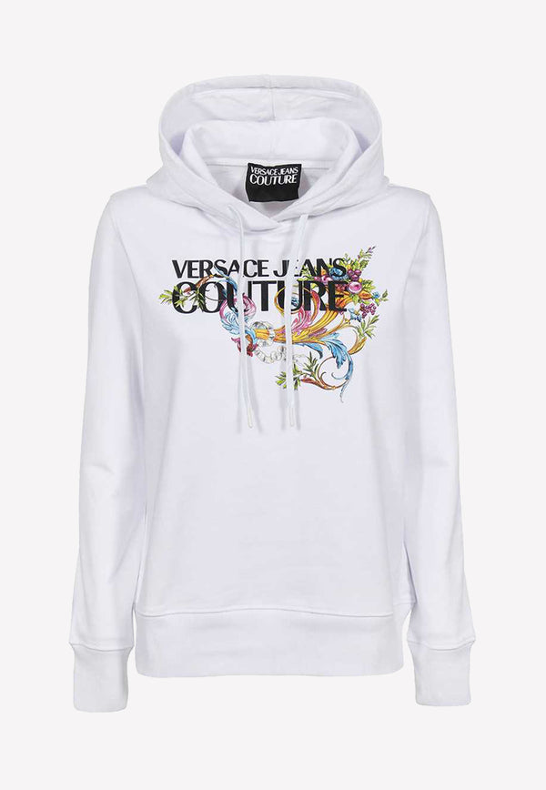 Baroque Logo Print Hooded Sweatshirt