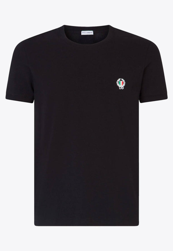 Cotton T-Shirt with DG Patch