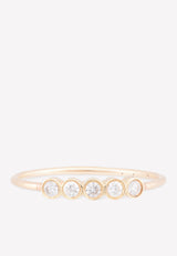 14K Yellow Gold 5 Bezel Diamond Ring