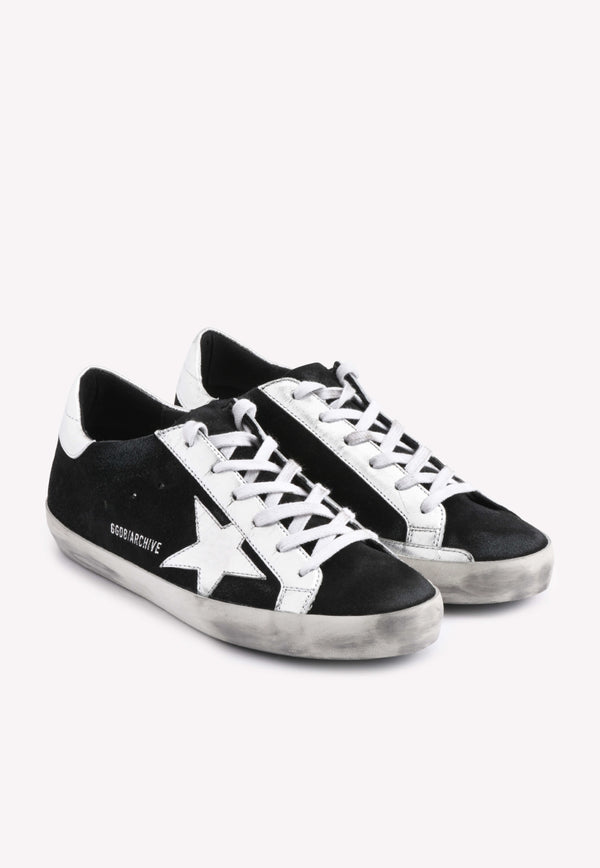 Archive Superstar Suede Sneakers with Metallic Accent- Men