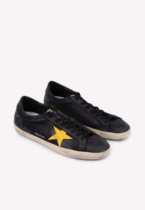 Superstar Leather Sneakers with Contrast Signature Star- Men
