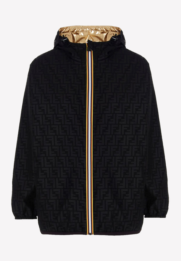 Fendi K-Way Reversible Nylon Jacket FAN019AERSBLACK MULTI