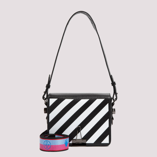 Diag Flap Shoulder Bag in Leather