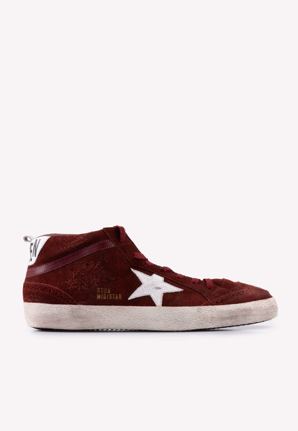 Midstar Distressed Suede High-Top Sneakers - Men