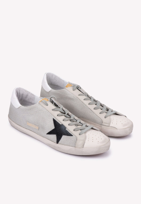 Superstar Mesh Leather Sneakers with Perforations - Men