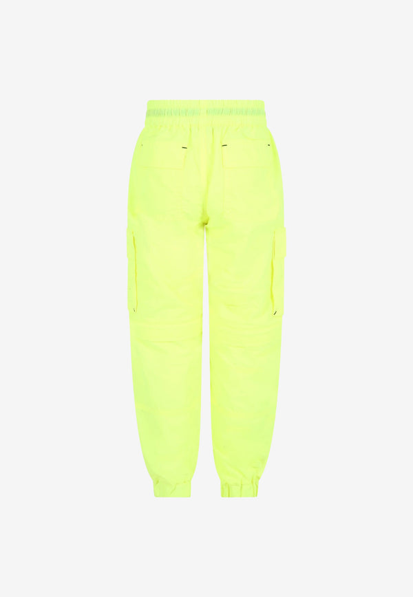 MSGM Kids Boys Nylon Cargo Pants Yellow MS027605---YELLOW