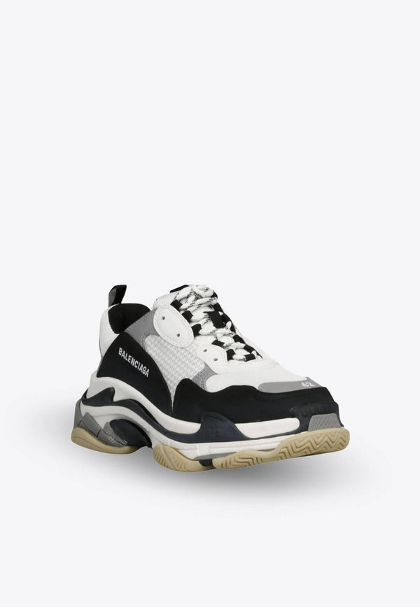 Triple S Sneakers in Mesh and Nylon