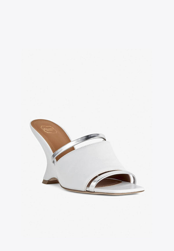 Demi 80 Wedge Mules in Nappa Leather-E