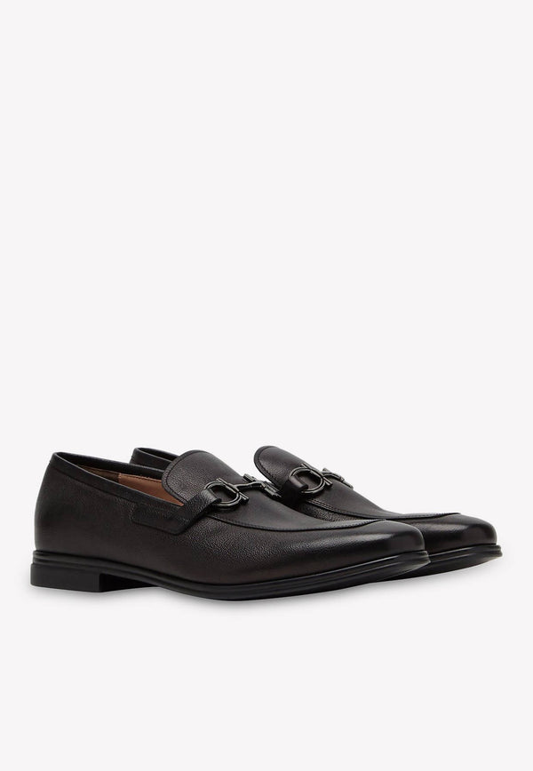Scarlet Gancini Loafers in Calfskin
