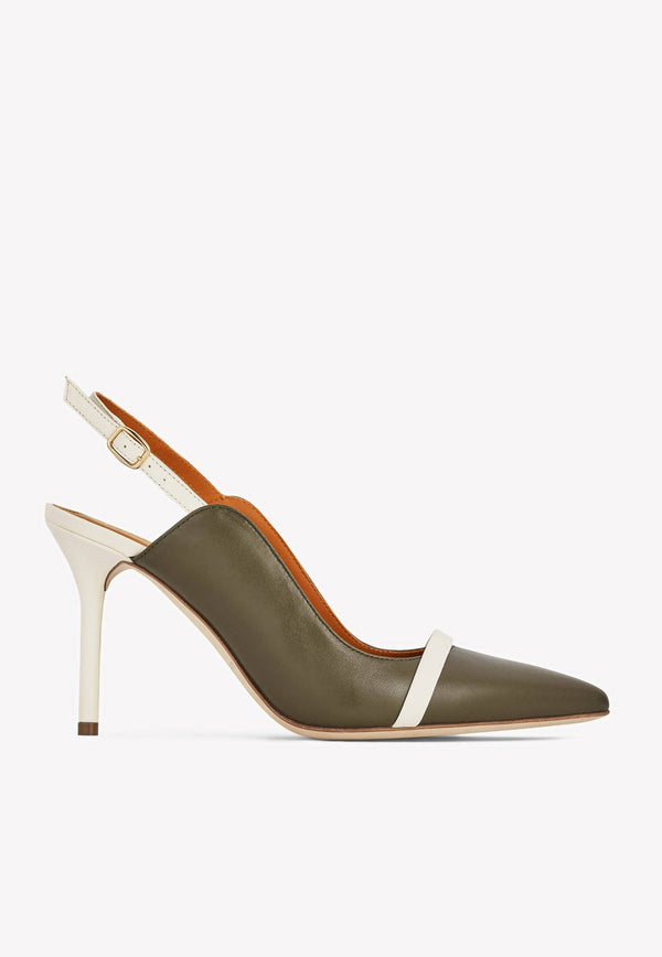 Marion 85 Slingback Pumps in Nappa Leather-E