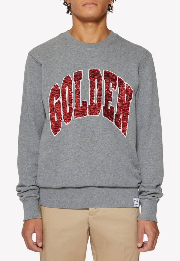 Archibald Sequined Cotton Sweatshirt
