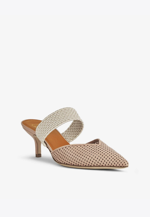 Maisie 45 Mules in Mesh Nappa Leather-E