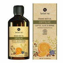 Load image into Gallery viewer, Coffolive Body Oil - Exfoliation & Hydration - Coffee, Olive, Orange & Tamanu - 100 ml