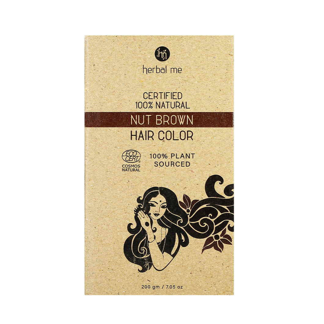 Nut Brown 200g - Certified Natural Henna Hair Color