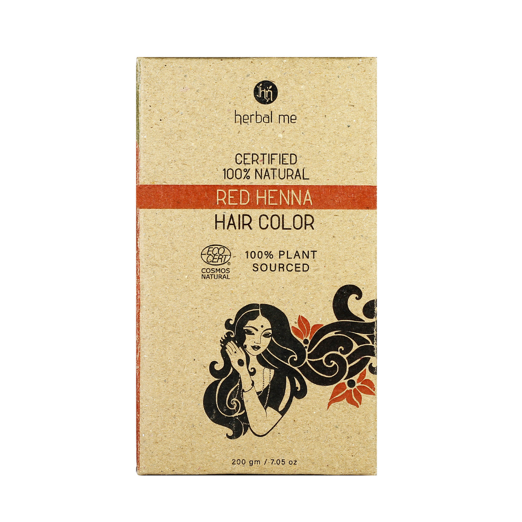 Red Henna 200g - Certified Natural Henna Hair Color