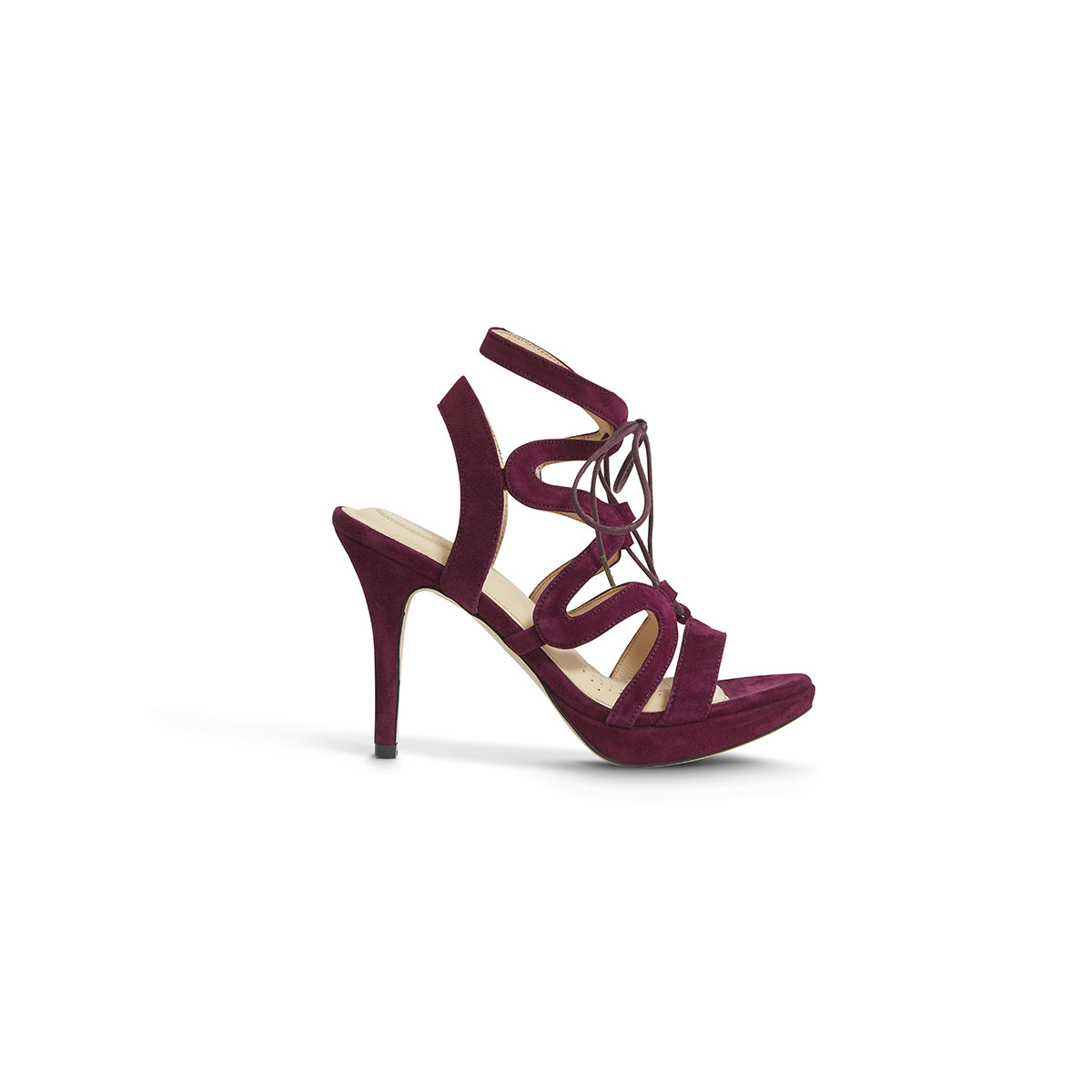 Chic Burgundy Suede