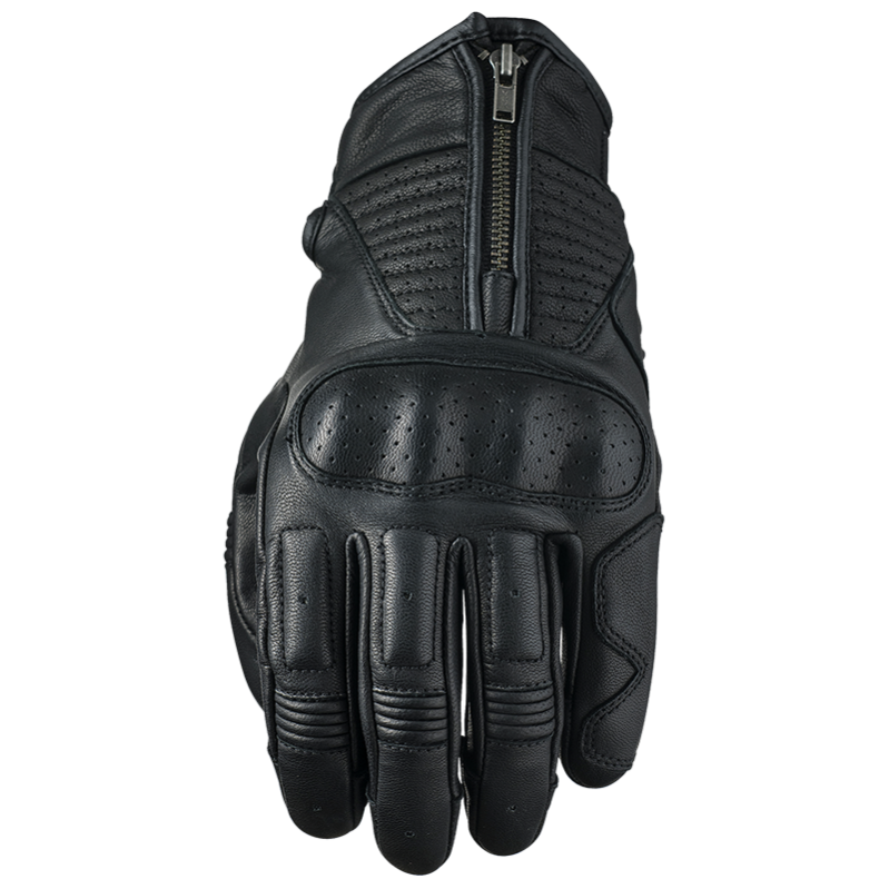 Guantes FIVE Piel Cafe Racer Negro Kansas.