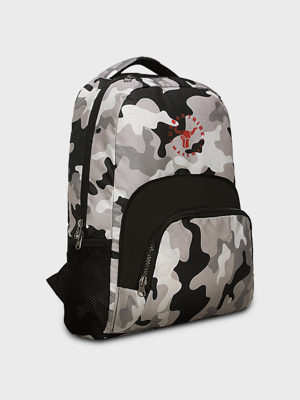 Floyd Stylish Camo Print Backpack - Grey