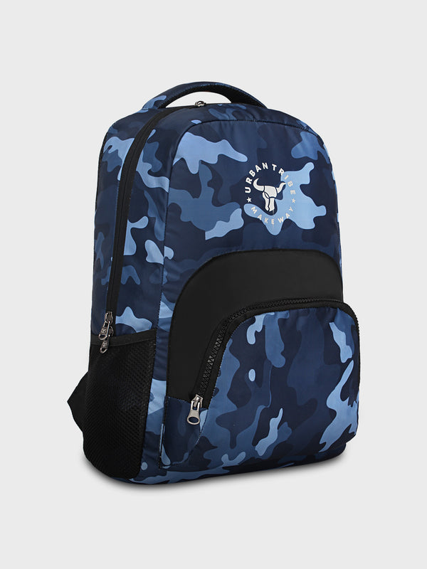 Floyd Stylish Camo Print Backpack - Blue