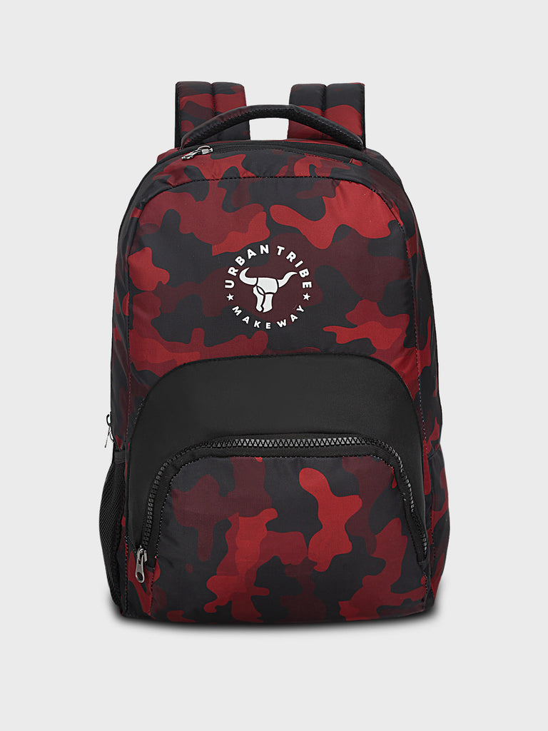 Floyd Stylish Camo Print Backpack - Red
