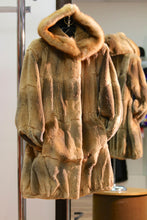 Load image into Gallery viewer, sheared muskrat coat/ sable trim