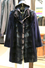 Load image into Gallery viewer, blue mink coat/loro piana cashmere hood