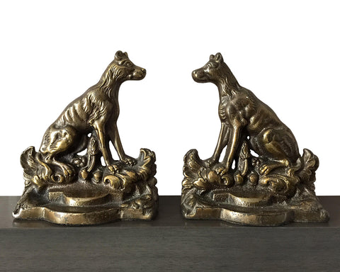 Jennings Brothers Antique Dog Bookends