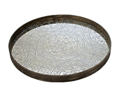 Mirrored Moroccan Design Tray