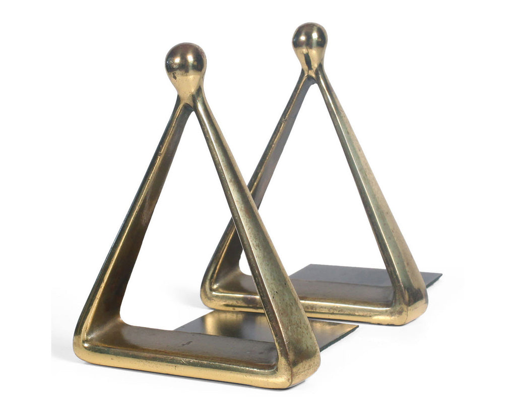 Ben Seibel Triangle Brass Bookends