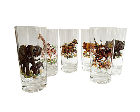 Animal Mid-Century Glasses