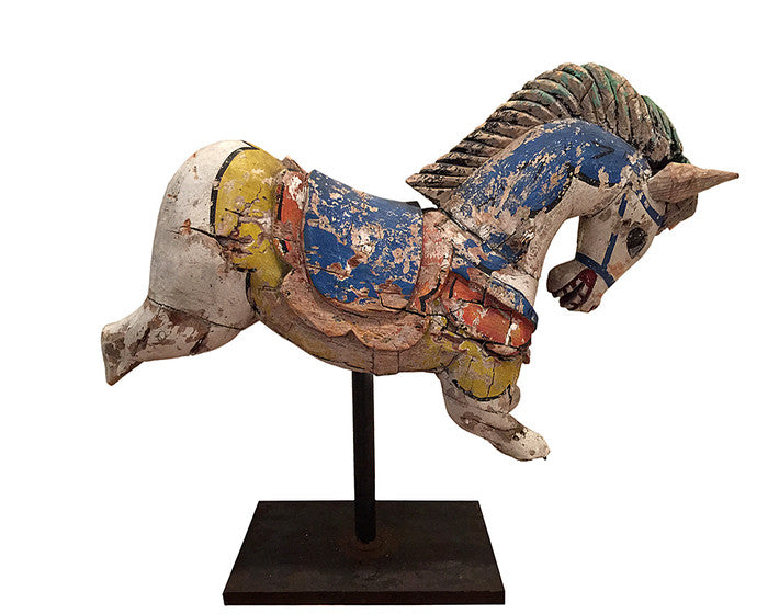 Antique Carved and Painted Carousel Horse