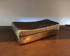 Ben Seibel Brass Ribbed Mid-Century Box